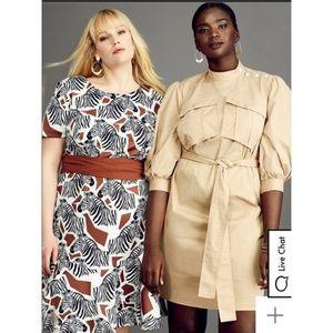 Eloquii Dresses - Plus Size Khaki Cargo Shift Dress x ELOQUII